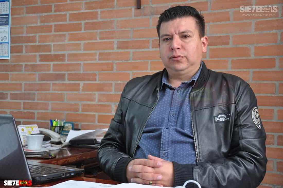 César Alejandro Casas Ramírez, secretario de tránsito de Duitama. Foto: prensa alcaldía de Duitama.