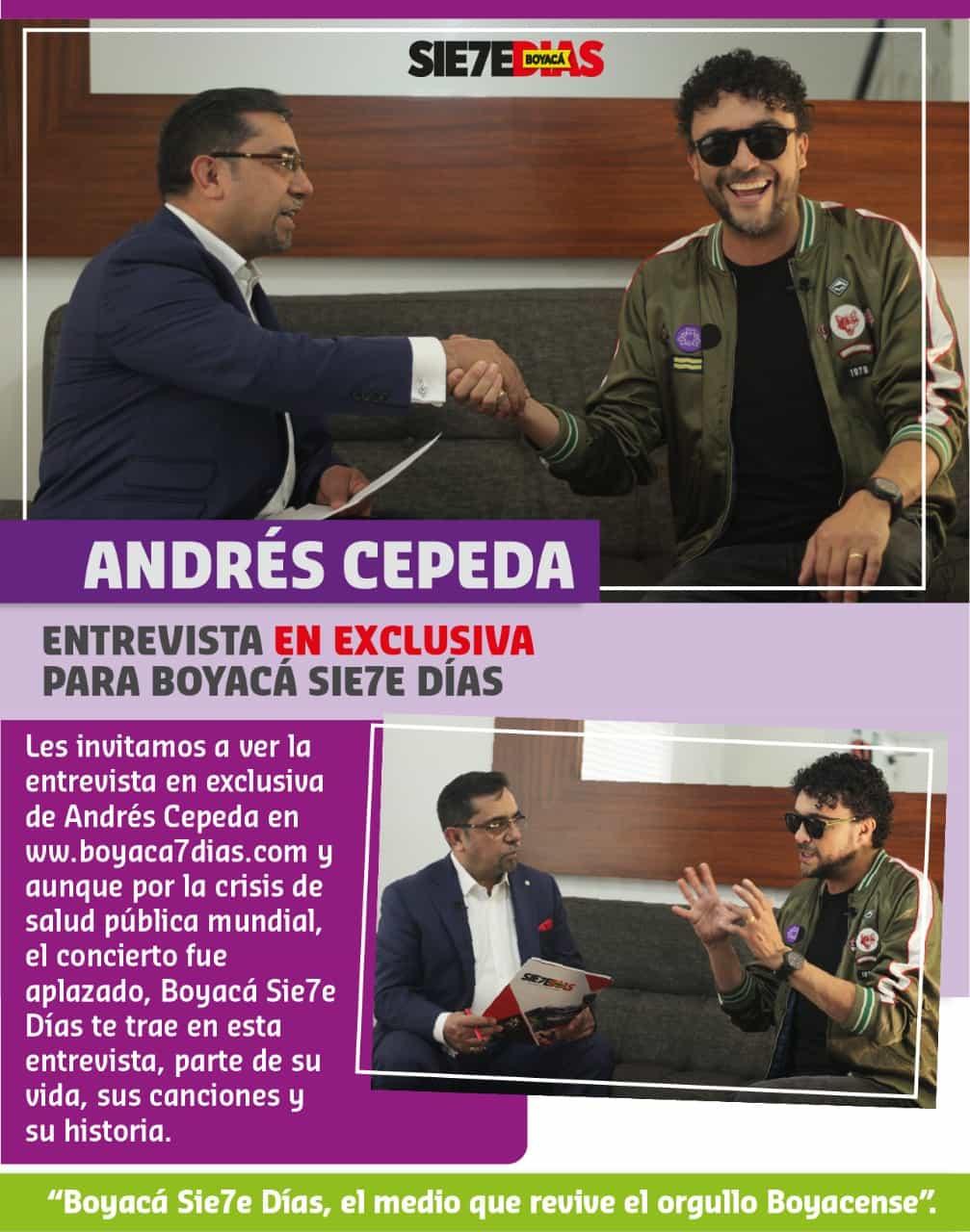 Momentos antes de la declaración de la pandemia, Andrés Cepeda se confesó con Boyacá Sie7e Días. Fotografía - Archivo Boyacá Sie7e Días.