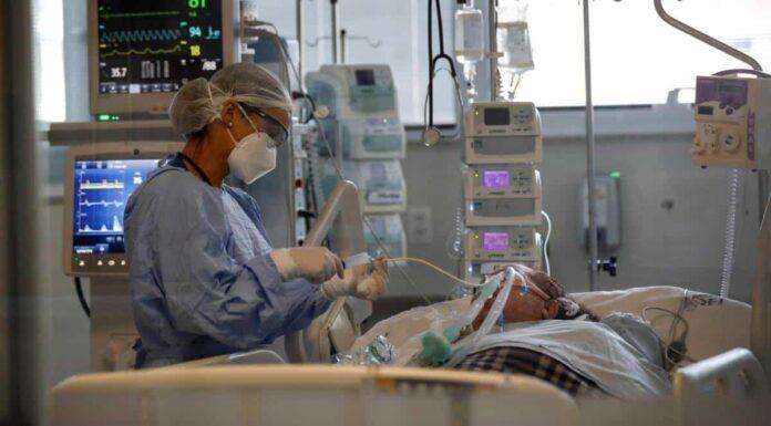 Paciente COVID-19 Foto: Sebastiao Moreira EFE