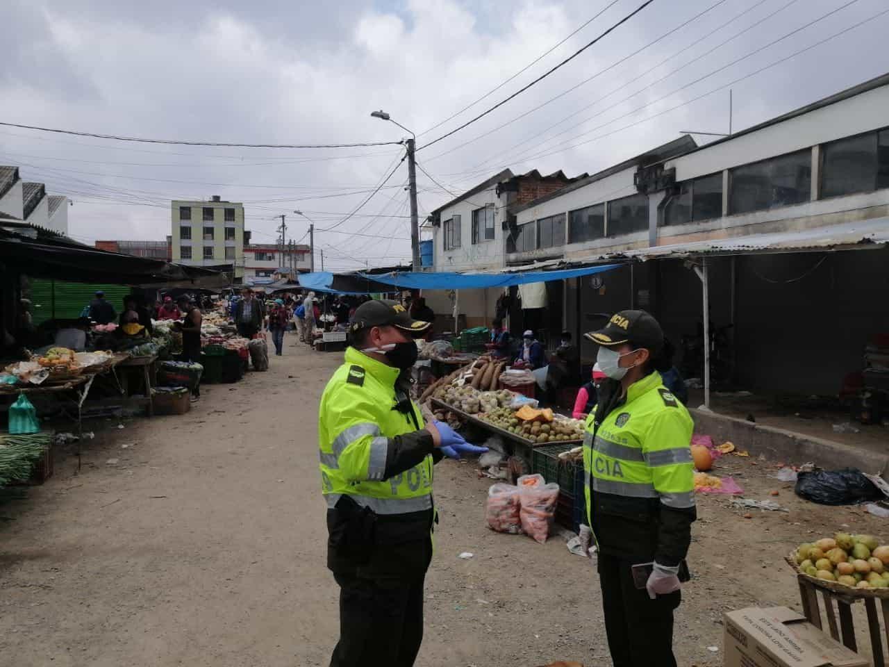 La policía Metropolitana adelantará estrictos controles para que este fin de semana se pueda cumplir el toque de queda. Foto: Policía Metropolitana de Tunja.
