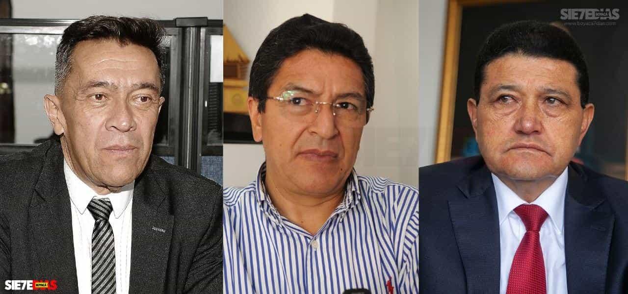 Arturo Montejo, Fernando Flórez y Pablo Cepeda. Foto: Archivo Boyacá Siete Días.