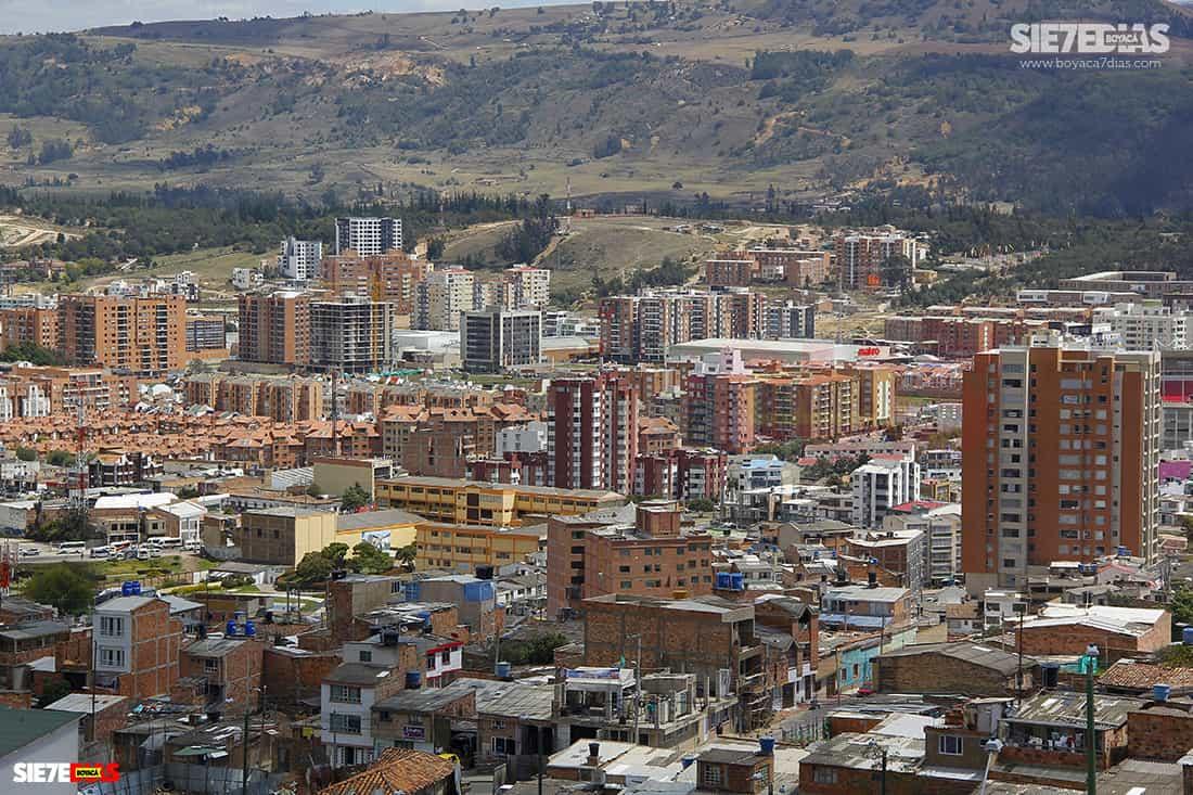 Panorámica del norte de Tunja. Foto: Luis Lizarazo / archivo Boyacá Siete Días.