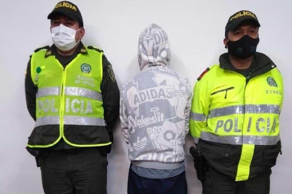 Adrián Felipe Lema Rodríguez, de Medellín, fue capturado por la Policía luego de participar en un intento de robo en Sogamoso, en el que hirieron a la víctima con arma de fuego. Foto: archivo particular