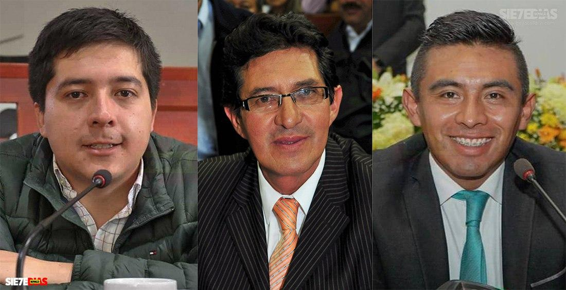 Mateo Centeno, Julio Salcedo y Julián David García. Foto: archivo Boyacá Siete Días.