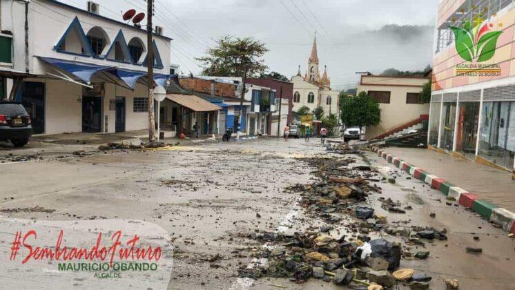 Emergencia en San Pablo de Borbur tras fuerte aguacero que colapsó el acueducto y alcantarillado 6