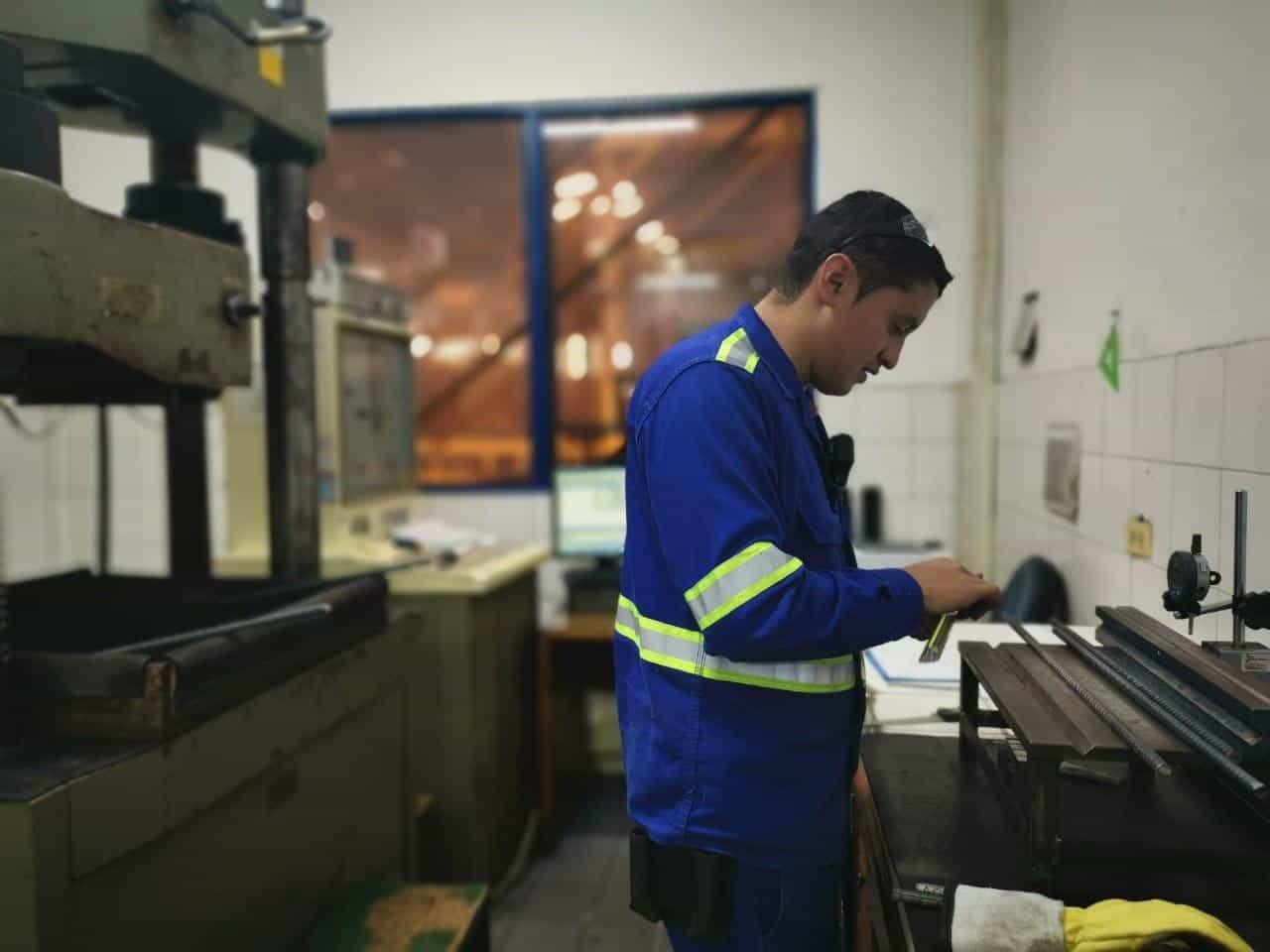 El laboratorio de Gerdau Diaco está ubicado en la planta siderúrgica de Tuta. Foto: archivo particular