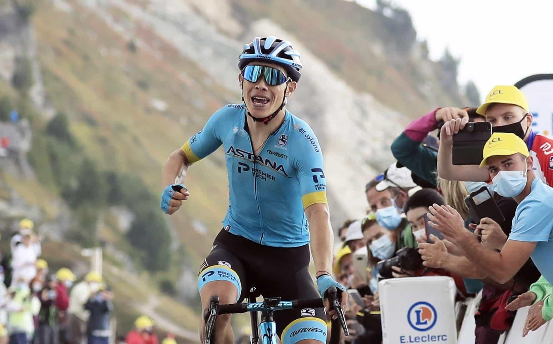 Miguel Ángel López en la etapa 17 del Tour de Francia. Foto: Christophe Petit-Tesson / EFE