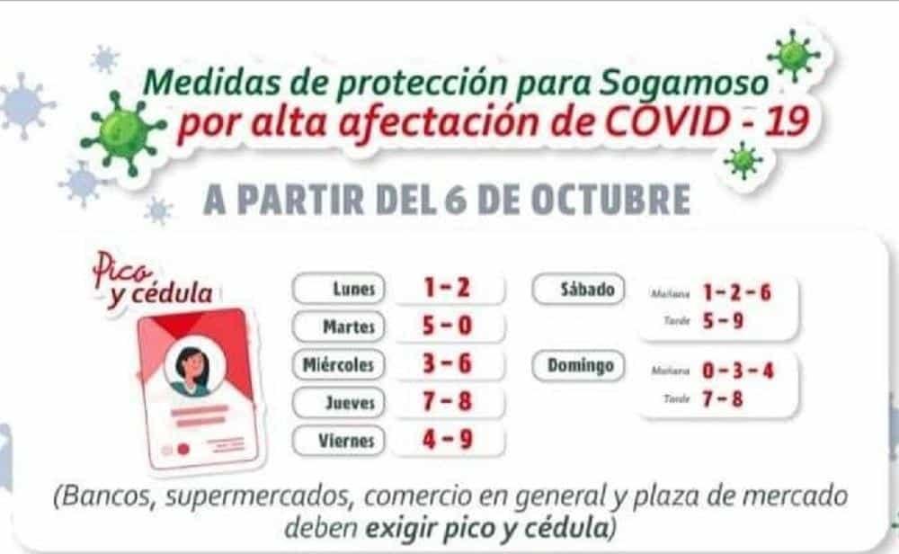 Vuelve el pico y cédula y el toque de queda en Sogamoso a partir de este martes 6 de octubre 3