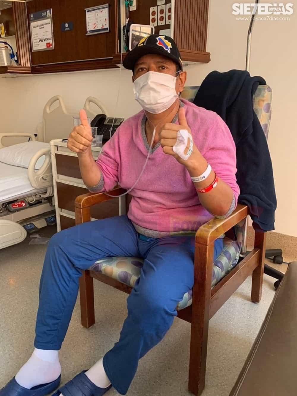Alcalde de Socotá, en plena recuperación de su cirugía a corazón abierto 1