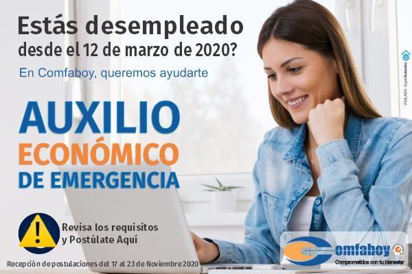Con esta pieza la Caja de Compensación Familiar de Boyacá está invitando a los desempleados a aspirara al llamado subsidio de emergencia.