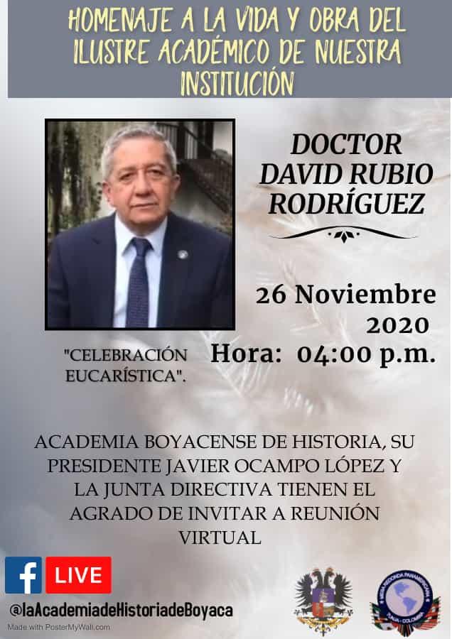 Hoy rinden homenaje al ilustre hombre de las letras David Rubio Rodríguez 1