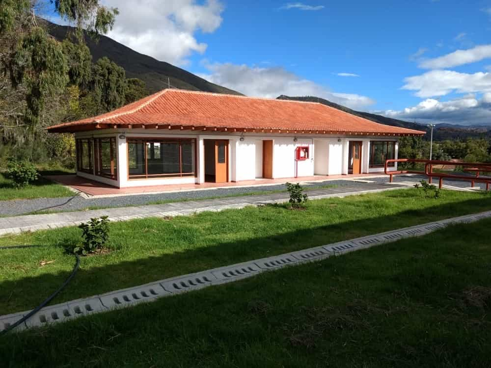 Primera fase de la Casa de la Cultura de Villa de Leyva, obra en la que se invirtieron 2.404 millones de pesos. Foto: archivo particular