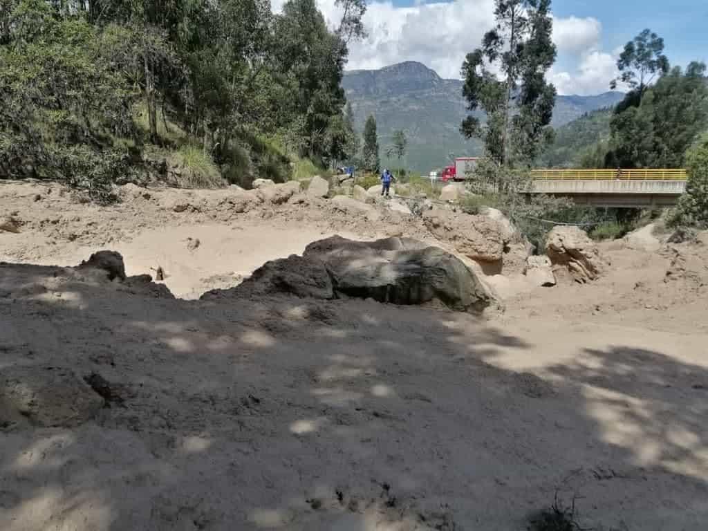 Al menos 13 familias del municipio de Socha se encuentran en riesgo por represamiento de la quebrada El Boche 1