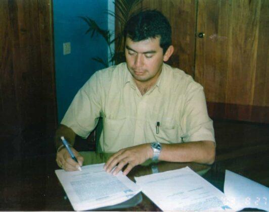 En esta fotografía, el ingeniero Plinio Rolando Forero Dueñas, cuando fue subdirector de Gestión Ambiental, cargo que ocupó entre el 2006 y el 2010. Hoy es el actual director de la corporación.