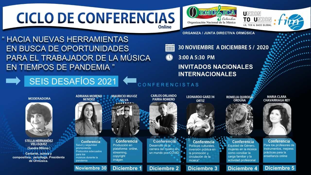 Ciclo de conferencias en favor de los músicos colombianos 1