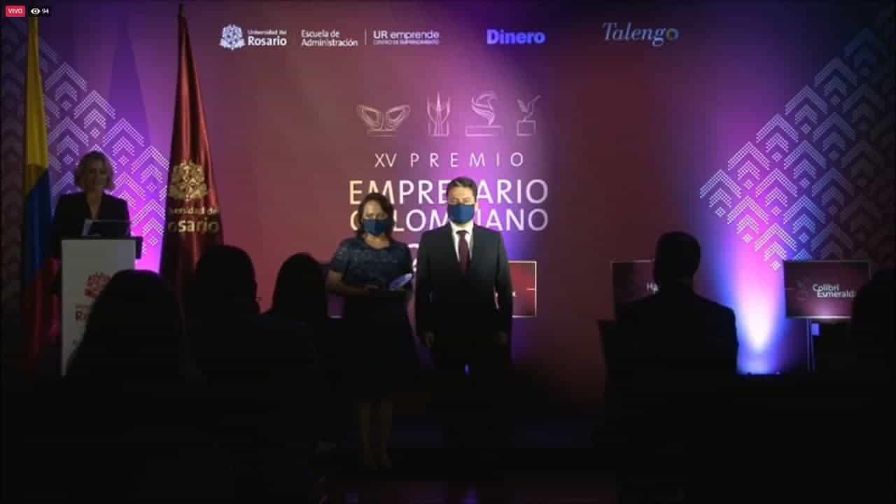 El Premio Empresario Colombiano 2020 fue para el boyacense Miguel Parra 1