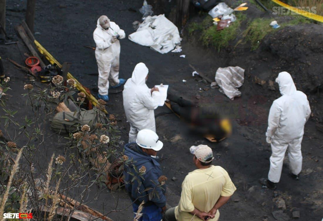 Fue rescatado un trabajador sin vida de la mina de carbón que explotó esta mañana en Tópaga 1