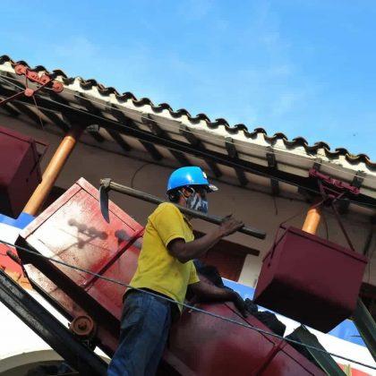 Con esta carroza se le rindió homenaje a la minería, principal actividad económica de este municipio. Foto: archivo particular