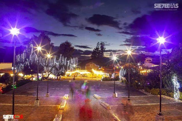 Un paisaje espectacular en navidades pasadas en el Pueblito Boyacense. Foto: Luis Lizarazo / archivo Boyacá Siete Días.
