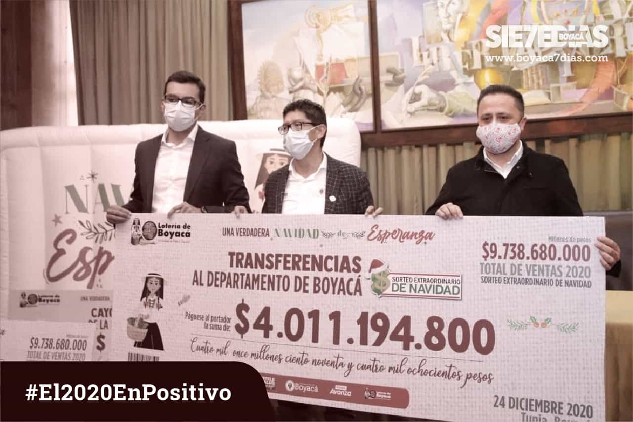 La Lotería de Boyacá y su mensaje de esperanza en medio de la pandemia.