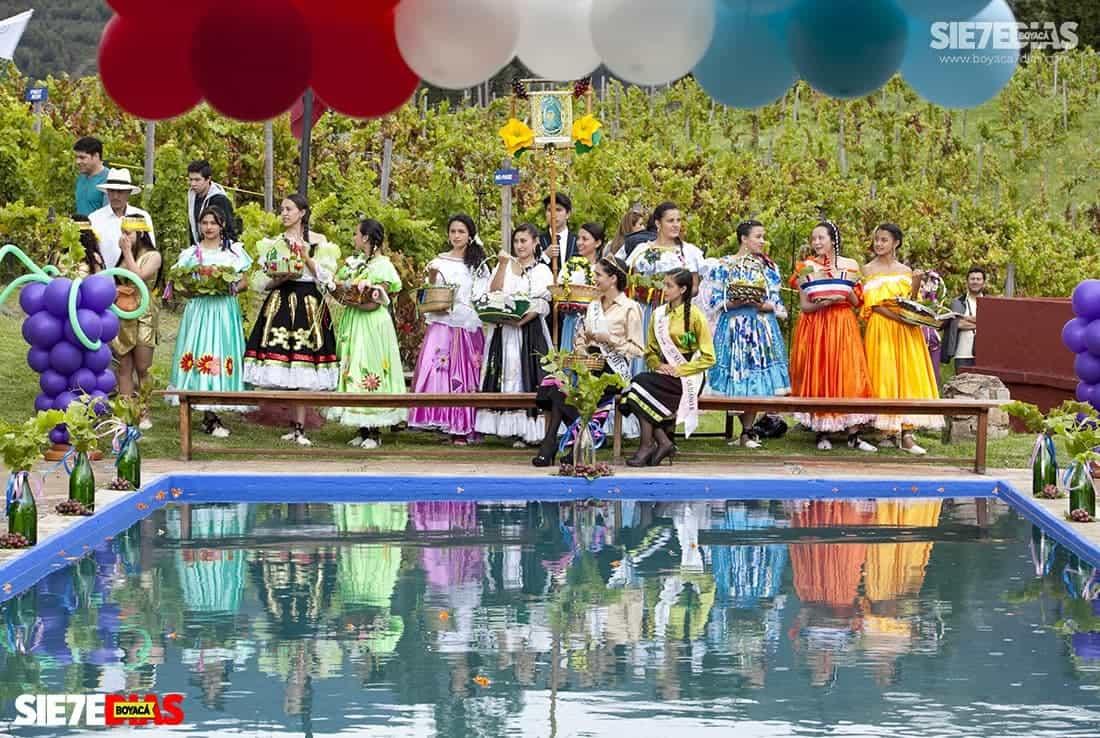En 1989 se llevó a cabo la primera Fiesta de Bienvenida a la Vid en el Valle del Sol, que ya cumple 31 años. Foto: archivo Boyacá Sie7e Días