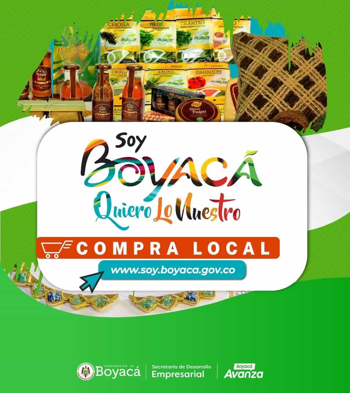 Afiche promocional de la campaña 'Soy Boyacá Quiero lo Nuestro', de la Gobernación. Foto : archivo particular