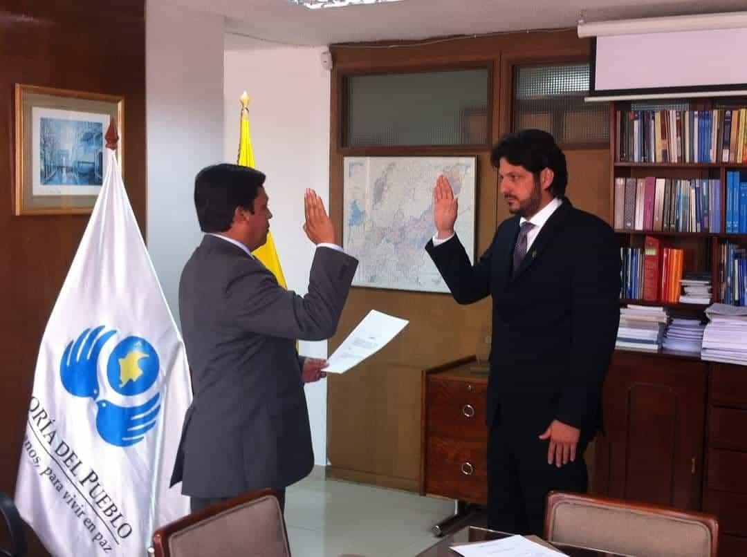 En los últimos 10 años, Elvis Guiovany Orejarena Pérez, ha ocupado diferentes cargos en la Defensoría del pueblo de Boyacá incluido un encargo como el que ostenta desde esta tarde. Foto: Archivo Particular