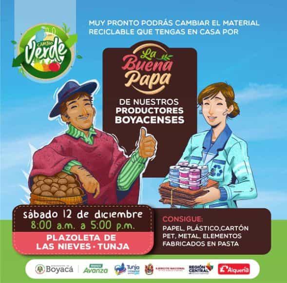 Cambiarán papa por materiales reciclables en Boyacá 2