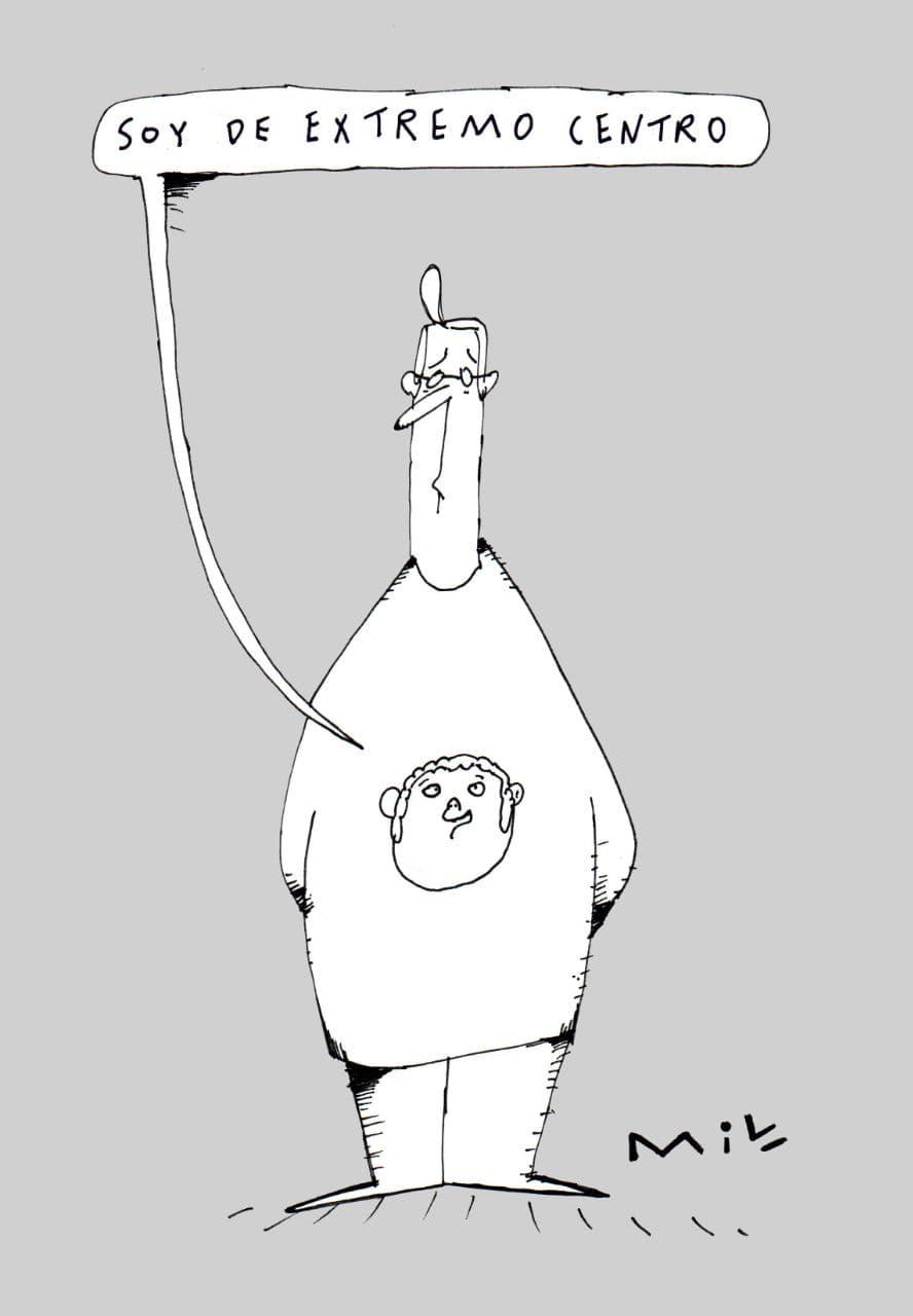 soy de extremo centro caricatura 7 dias