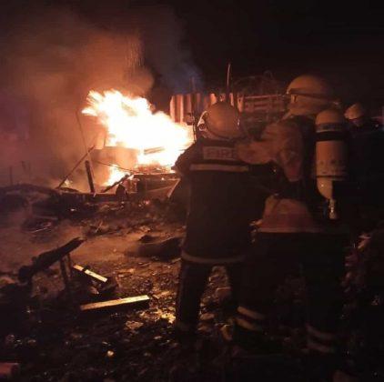 El día de Reyes empezó en Sogamoso con un incendio en un depósito de reciclaje 1