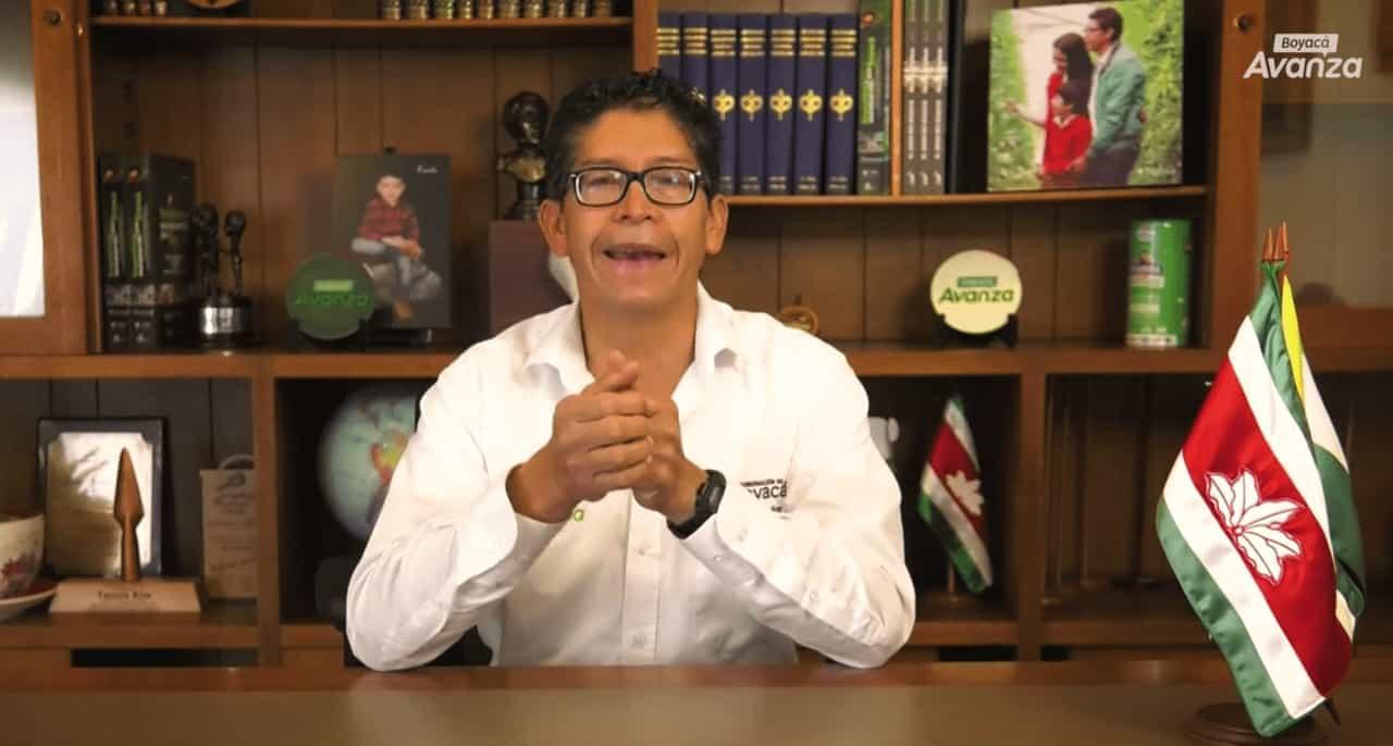 Ramiro Barragán Adame - Gobernador de Boyacá. Foto: Captura Video Facebook