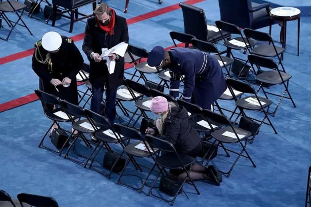 preparativos de la posesión de Joe Biden. Foto: EFE/EPA/GREG NASH