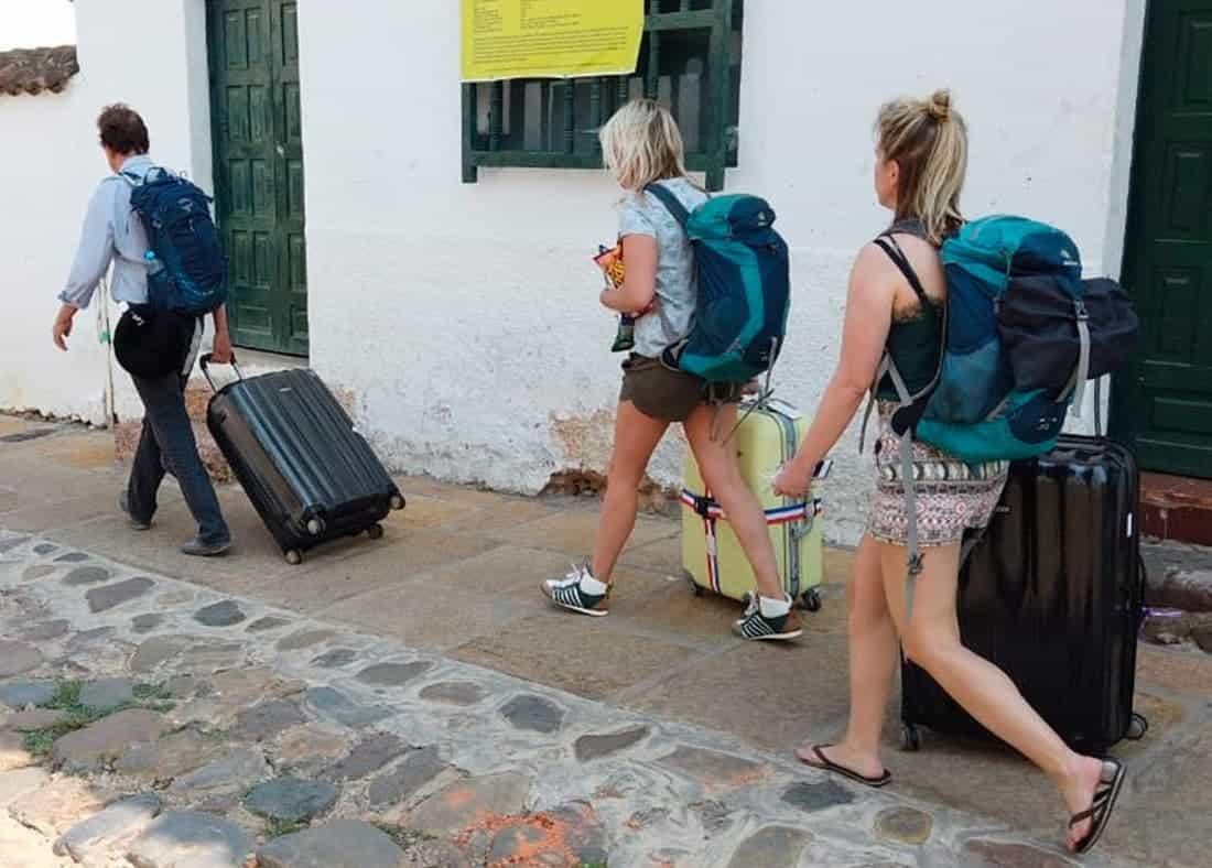 Turistas extranjeros en Villa de Leyva. Foto: archivo particular.