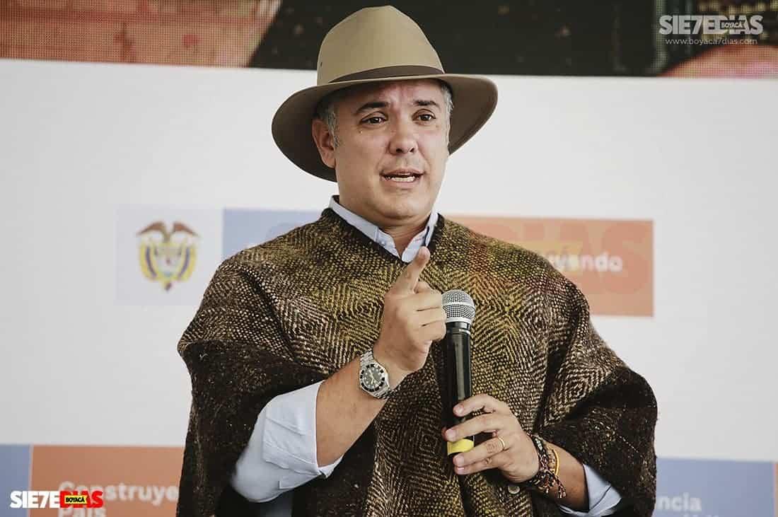 El presidente Duque llega el viernes a Sogamoso y se dirigirá a Tunja  #Tolditos7días - Boyacá 7 Días