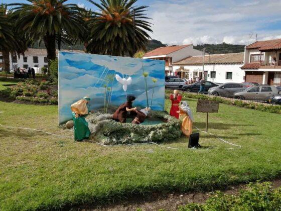 En Tibasosa recrean la Semana Santa con imágenes de pasajes bíblicos de la vida de Cristo 1