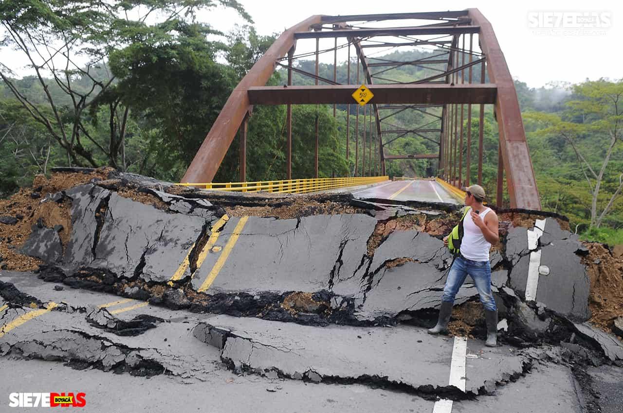 Los puentes que siguen quebrados en el occidente de Boyacá 1