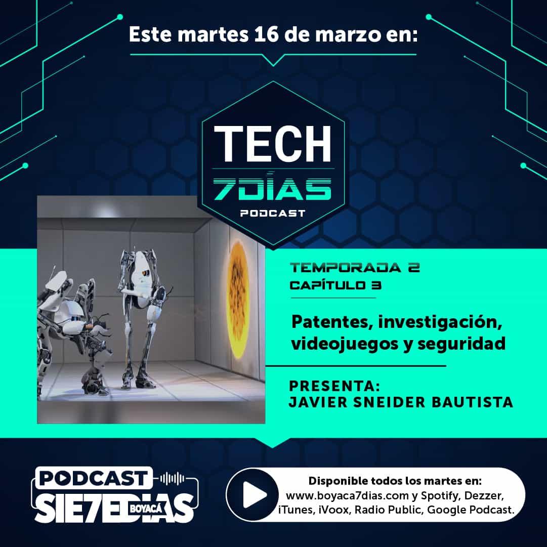 Tech 7 días - Patentes, investigación, videojuegos y seguridad - Temporada 2 - Capítulo 3 #Podcast7días 1