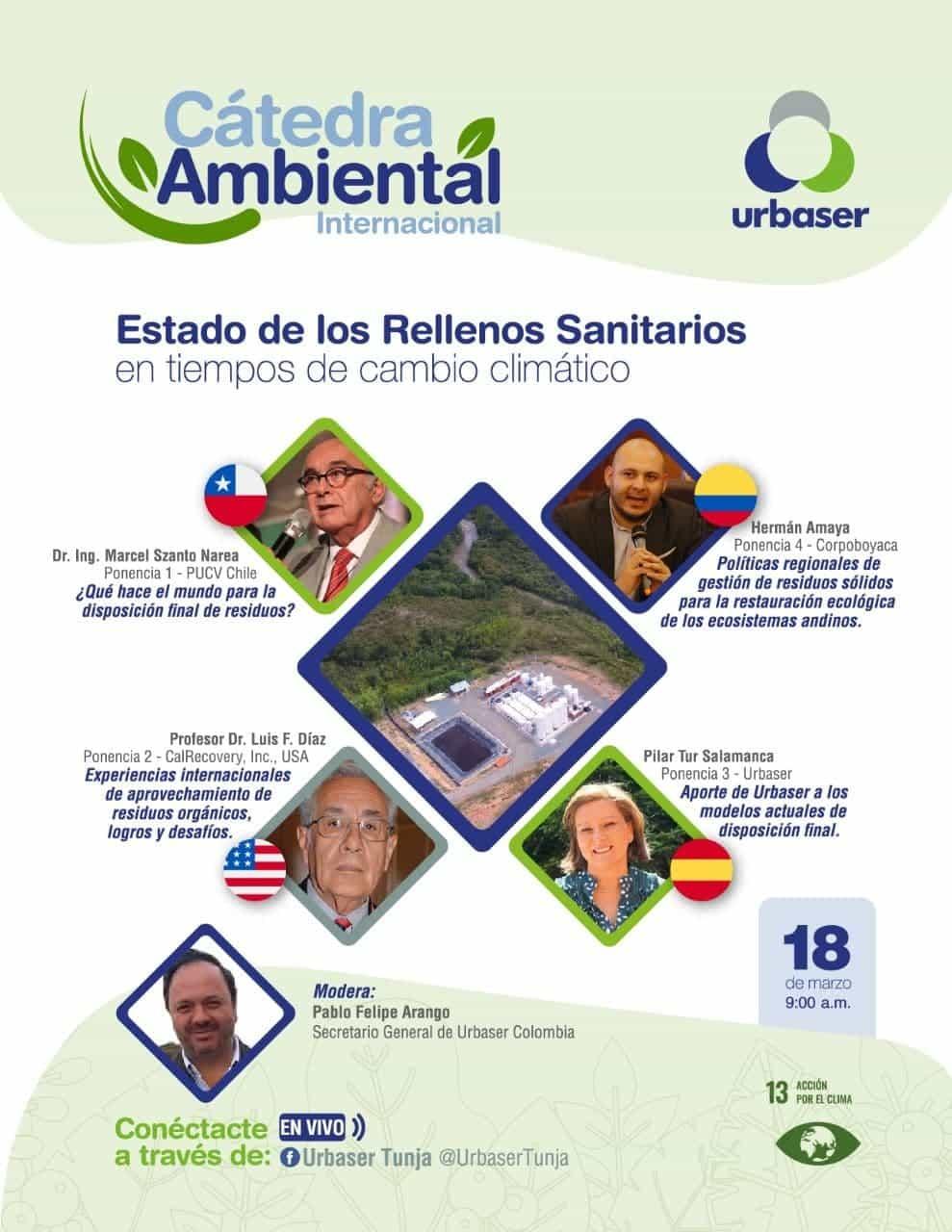 Rellenos sanitarios y cambio climático en la cátedra ambiental de Urbaser 2