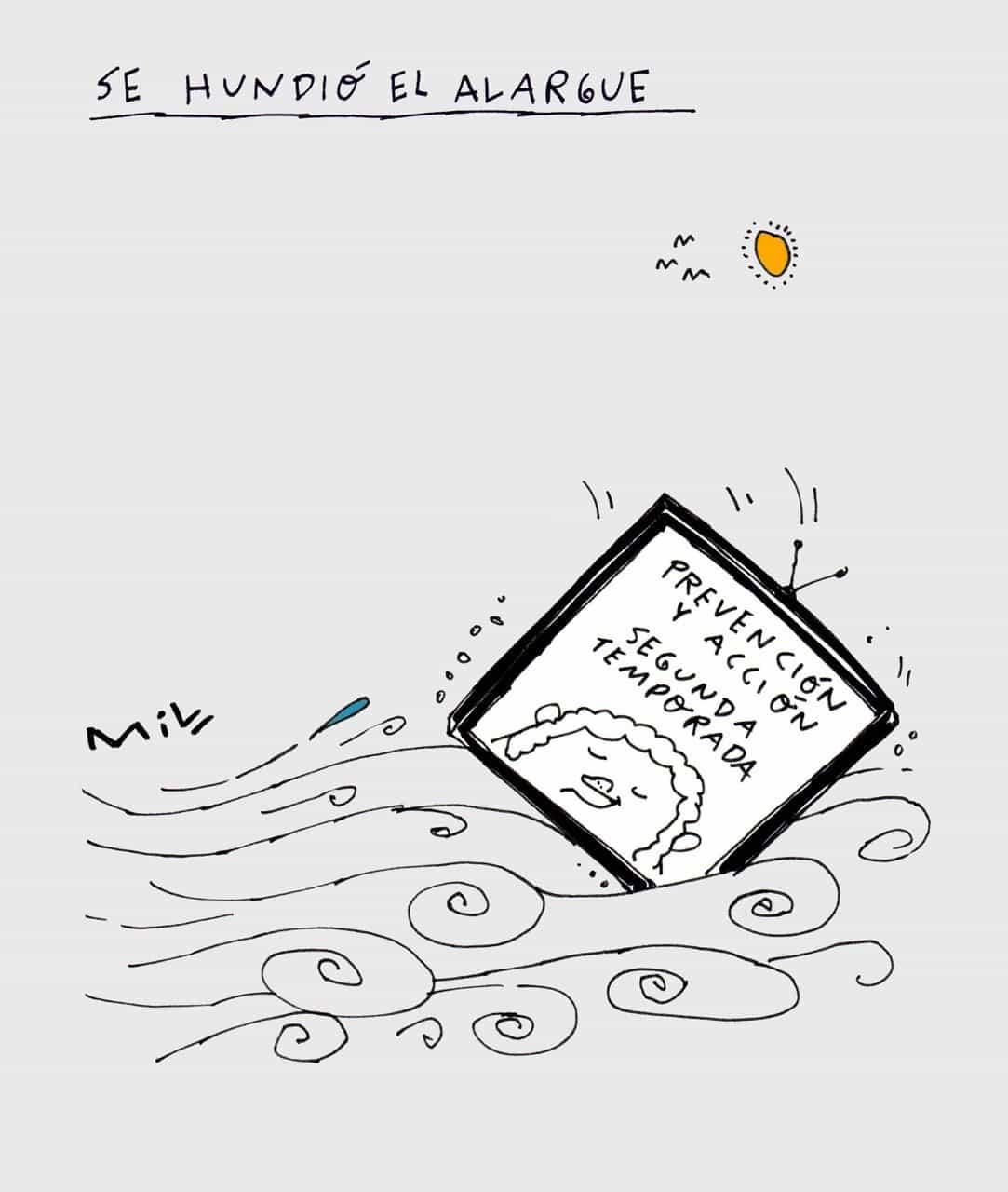 Se hundió el alargue - #Caricatura7días 1