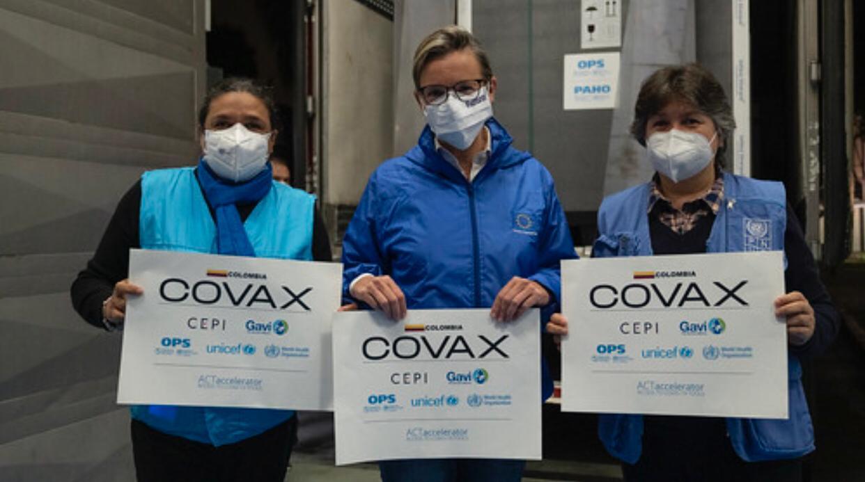 Colombia recibe segundo envío de 912.000 Vacunas Anti COVID-19, a través del mecanismo COVAX 1