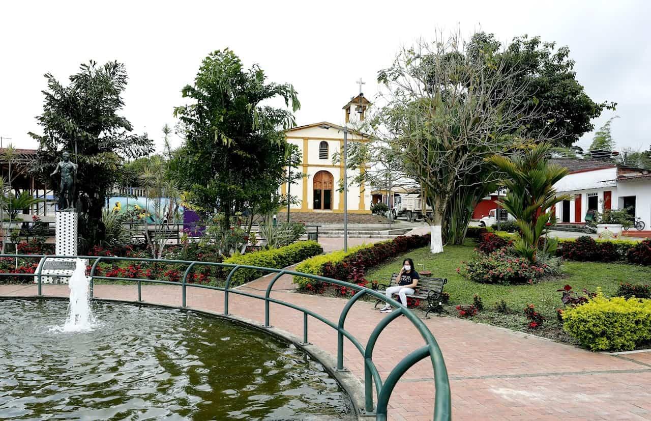 Municipio de Campohermoso. Foto: EFE/Mauricio Dueñas Castañeda.