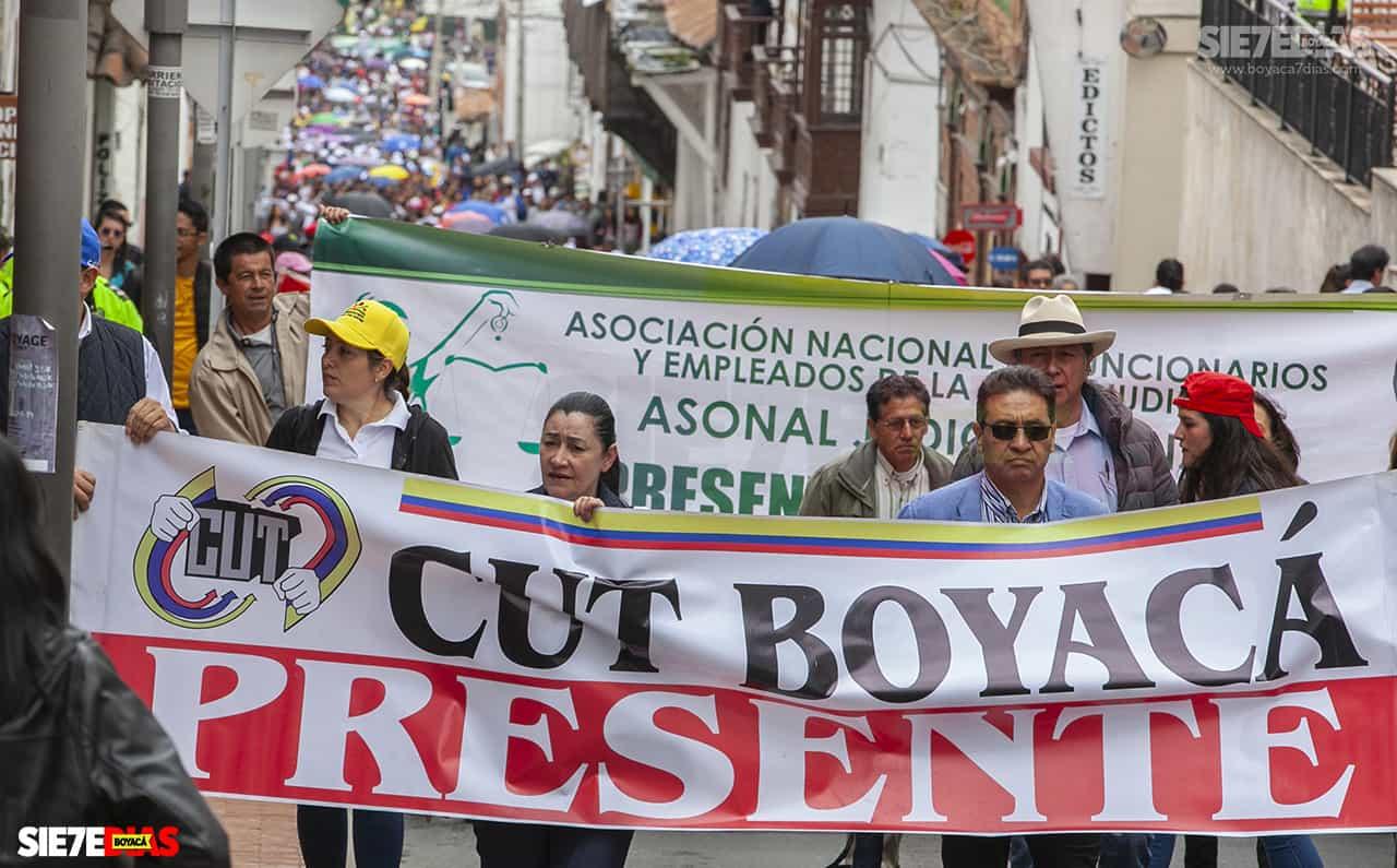 En Sogamoso habrá dos marchas, una por la vía a Nobsa y otra por la vía a Tibasosa. En Duitama y Tunja se realizará una sola marcha por ciudad. Foto: archivo Boyacá Sie7e Días