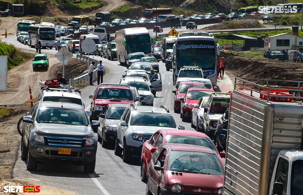 En un 900 por ciento creció la movilización de vehículos por vías boyacenses en Semana Santa 1