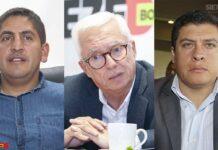 Mauricio Neisa, exalcalde Sora; el senador Jorge Robledo y Yoani Vela Bernal, exalcalde de Turmequé. Fotos: Luis Lizarazo / archivo Boyacá Siete Días.