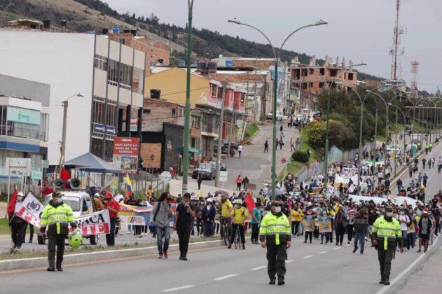 [Galería] - Así avanza la protesta en la capital de Boyacá 5
