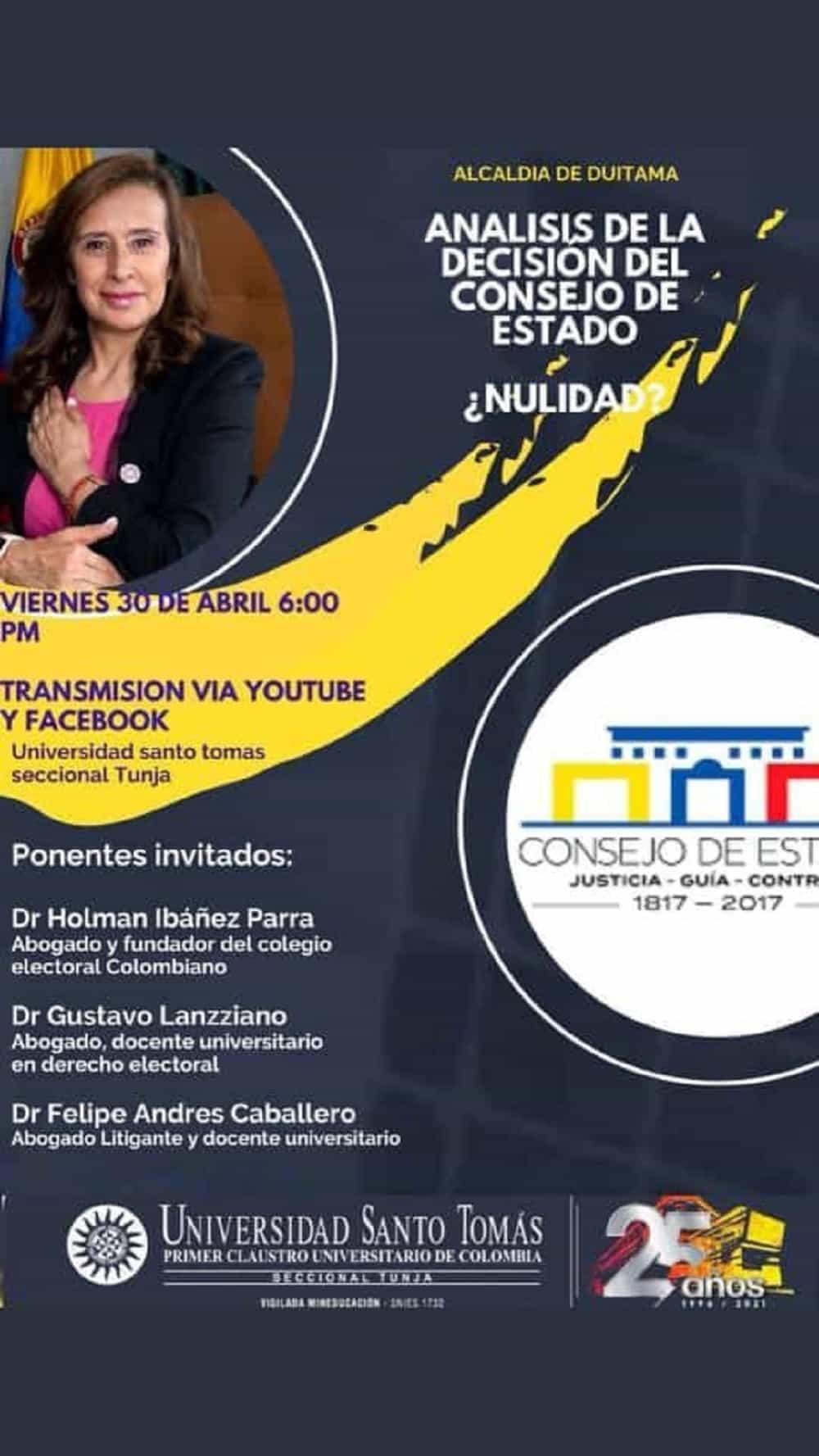 En la Santoto Tunja analizarán nulidad de la elección de alcaldesa de Duitama #Tolditos7días 1