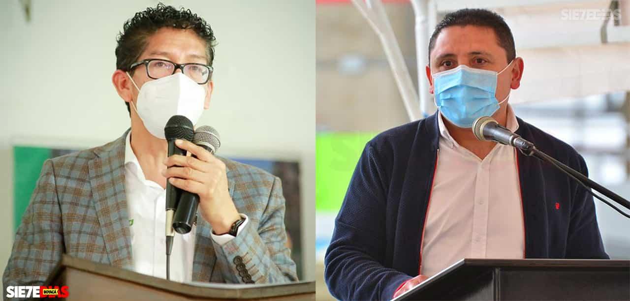 Ramiro Barragán - Gobernador de Boyacá y Alejandro Fúneme Alcalde de Tunja. Foto: Archivo Boyacá Sie7e Días.