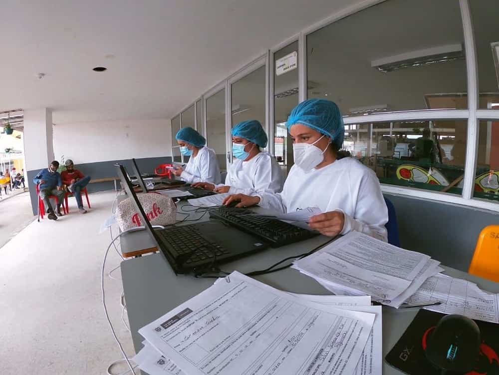 Salud Sogamoso cuenta con 30 personas que conforman cinco equipos de vacunación. Foto: archivo particular