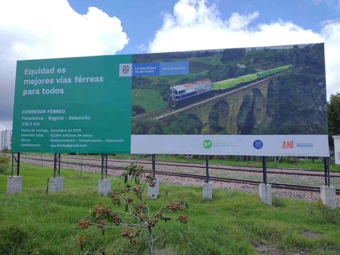 Retiraron hasta la valla publicitaria del ferrocarril Bogotá-Belencito #Tolditos7días 2