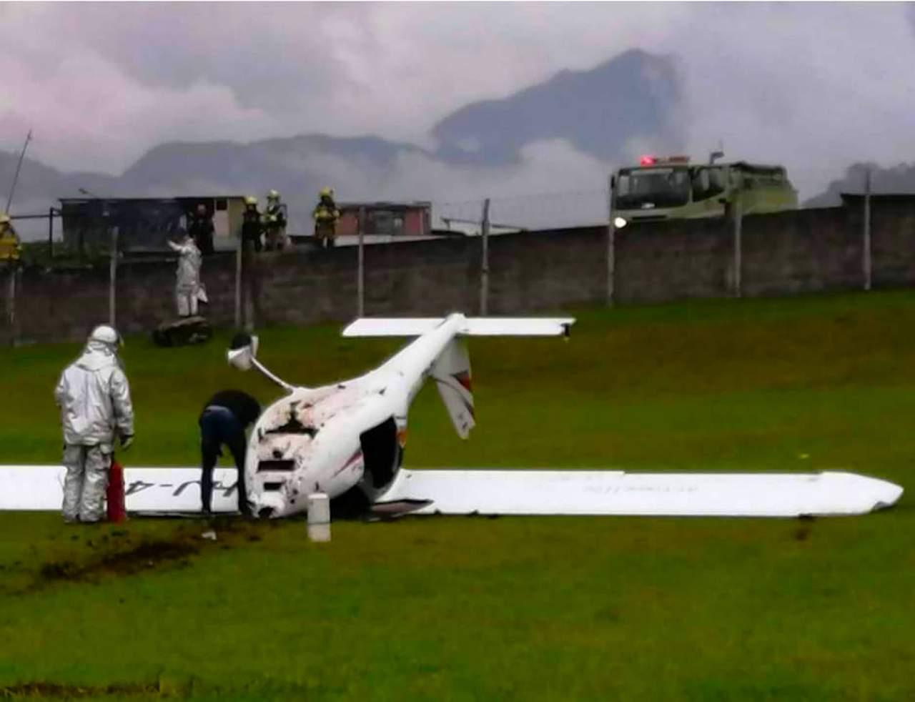 Este sábado una avioneta se accidentó en el aeropuerto de Manizales 1